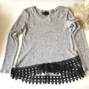 Mosaic Soft Sweater Grey & Black Medium